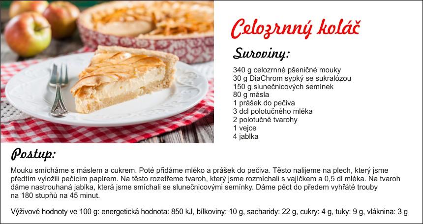 celozrnný koláč