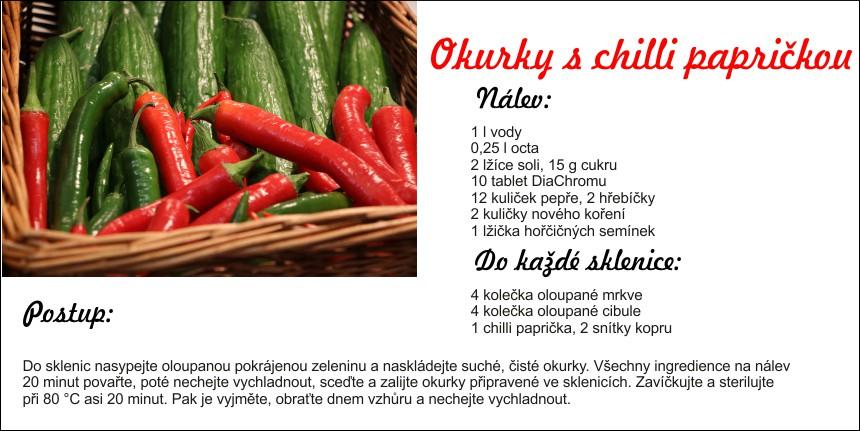 okurky s chilli