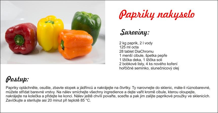 papriky na kyselo